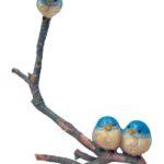 3 Blue birds twig - 9283