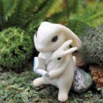 Bunny reading - 11846
