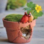 Cardinals nest pot - 9988