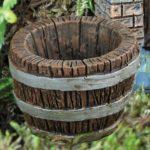 Half barrel planter - 16854