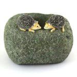 Hedgehog stone pot - 10528