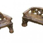 Micro woodland bench and chair (2) -16575