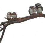 Owl family on branch -11092