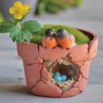 Robins nest flowerpot - 9707A